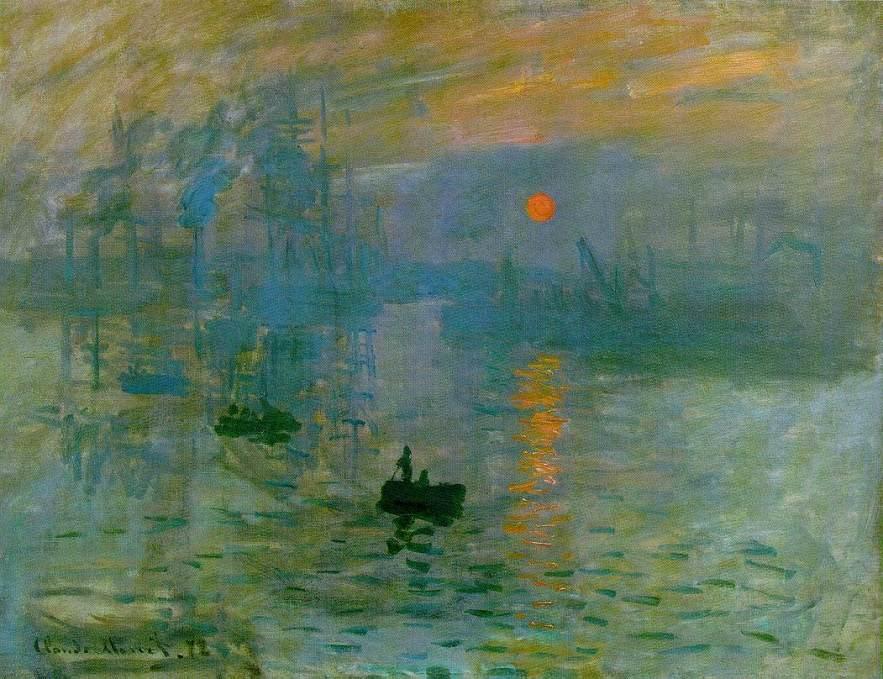 Claude Monet: Impression, soleil levant (1873). Het impressionisme heeft zijn naam aan dit schilderij te danken.