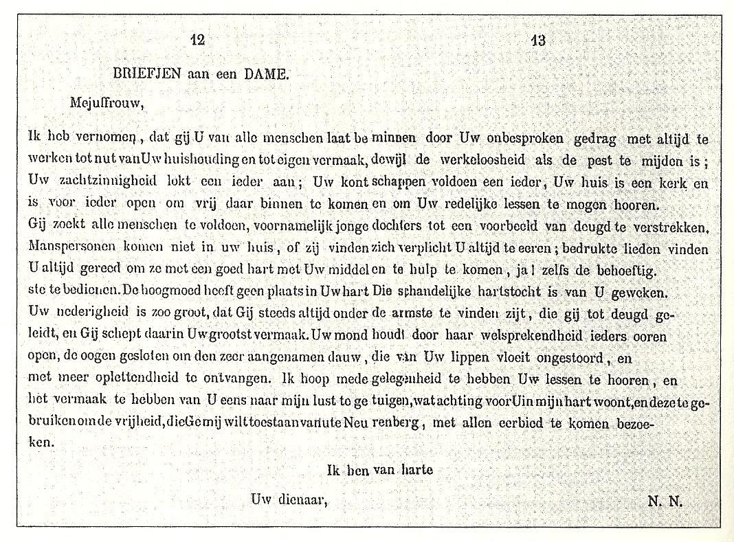 brief opdracht nederlands